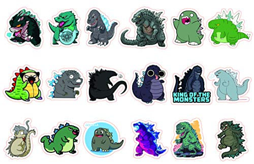 Godzilla Sticker, Waterproof Decal with Cute Chibi Design The Perfect Godzilla Gifts for Decorating Your Water Bottles, Laptops, Mobile Phones, Skate Boards, Helmets and Luggage. by H2 Studio