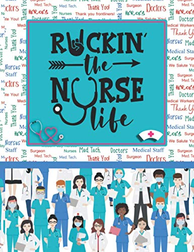 Rockin The Nurse Life: Nursing Clinical Report Notebook with Medical Terminology Abbreviations & Acr