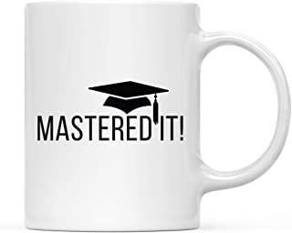 Andaz Press 11oz. Graduation Coffee Mug Gift, Mastered It!, 1-Pack, Includes Gift Box, Cups for Graduates School Students of Class of 2019, Masters MBA Grad Diploma, Academic Degree Congratulations
