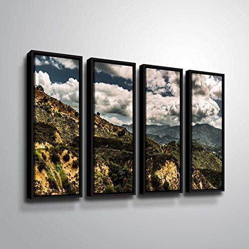 ArtWall Richard James 'Topanga Department store I' Floater 4 Framed excellence Piece Canvas