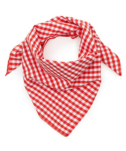 Tracht & Pracht - Herren 100% Baumwolle - Trachtentuch Nickituch Karo - Rot