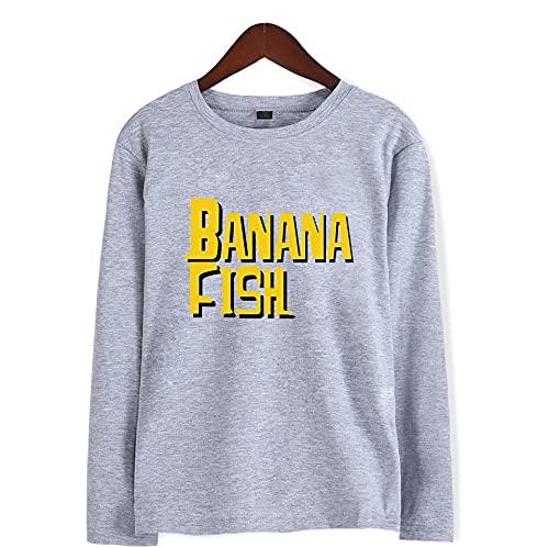 WYFREE.SA Hombres Mujeres Anime Banana Fish Sudadera de Manga Larga Ash Lynx Cosplay Pullover Eiji Okumura Hoodie amisetas Harajuku Sudadera Ropa Deportiva