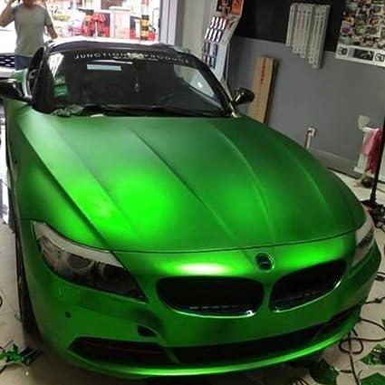 3d Chrom Matt Metallic GrÜn Mit Luftkanälen Car Wrapping Profi Folie 0 5m X 1 52m Auto