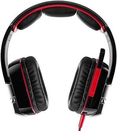 Gaming Headset Per PS 4 PC | Cuffie Da Gioco Professionali Da 3 5 Mm | Microfono Stereo Con Riduzione Del Rumore E Controllo Del Volume | Design A Basso Profilo (rosso) - Trova i prezzi più bassi