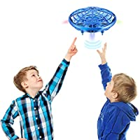 Kearui Spielzeug 5-8 Jahren Junge, UFO Mini Flugspielzeug Drohne Handgesteuerter RC Drone Quadcopter, Wiederaufladbar mit 2 Geschwindigkeitsmodellen und LED-Anzeige, 7-12 jährige Mädchen / Jungen