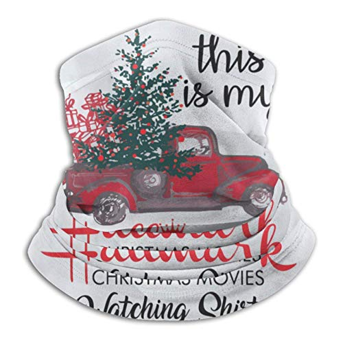 Estas Son mis películas navideñas de Hallmark Viendo Bufanda de Cuello Caliente con Sombreros de Tubo multifuncionales