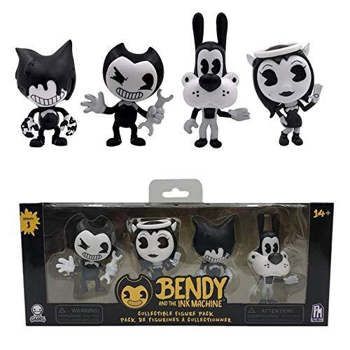 HGFJG 1 Juego De Figuras De Juego Bendy Ink Machine Doll Figuras De Acción Colecciones para Niños Bendy PVC Toys Set