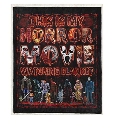 DesDirect Store Blanket - This is My Horror Movie Watching Fleece White Fleece 50'x60'