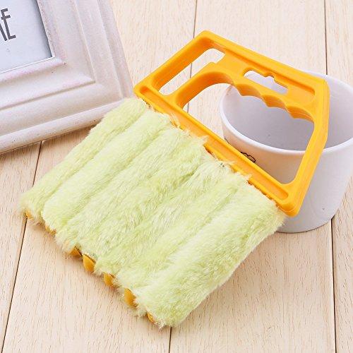 Mini Limpiador de persianas, Cepillo Desmontable para Aire Acondicionado, Herramienta de Limpieza de Polvo, Ligero, Lavable, Limpiador de Ventanas con 7 láminas