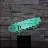 3D-Nachtlampe Illusionslampe 3Dsporting Skateboard...