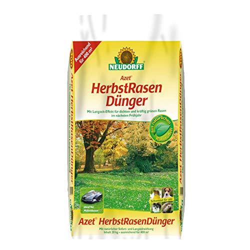 Neudorff Azet HerbstRasenDünger 20 kg - Rasendünger mit Sofortwirkung im Herbst und Langzeitwirkung für das Frühjahr