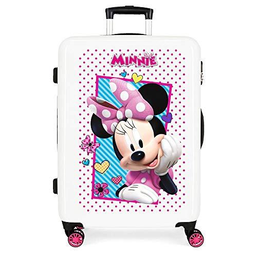 Disney Enjoy Minnie Icon Maleta Mediana Rosa 48x68x26 cms Rígida ABS Cierre combinación 70L 3,7Kgs 4 Ruedas Dobles