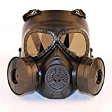 haoYK Tactical Dummy Anti Brouillard Masque à gaz avec Double Ventilateur Airsoft...