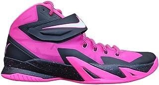38cd169555a8 Nike Zoom Soldier VIII Men s Basketball Sneakers (Pinkfire II Black-Hyper  Pink-