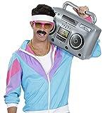 shoperama Radio inflable estilo retro de los años 80, 50 cm, con radio, hiphop.