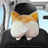 Cute Corgi Car Tissue Holder, Cartoon Napkin Holder For Sun Visor, Funny Paper Towel Holder For Car Sun Visor, Polyester Fiber, Car Tissue Holder For Rear Seats Of Vehicles