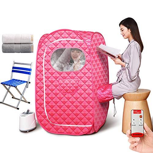 ZYQDRZ Tragbare Dampfsauna, Fernbedienungstemperatur, 2-Liter-spa-dampfsauna, Einschließlich Stühlen Und Handtüchern, Um Müdigkeit Zu Lindern