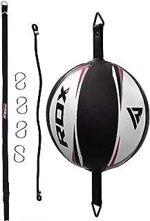 Sac /À Double Extr/émit/é Vitesse De Boxe Dodge Ball PU Ballon De Boxe en Cuir MMA Sports Punch Bag Workout Home Gym Exercice avec 2 Anneaux De Verrouillage Et 2 Ventouses Am/élior/é