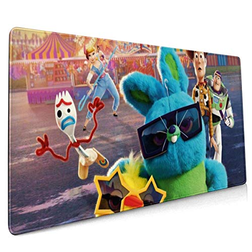 Cartoon Toy Story Gaming Mouse Pad Large Custom Mousepad Pads for Laptop Computer,Desk Cover Computers Keyboard Stitched Edges Office Ideal Mouse Mat 30x80cm-SS2