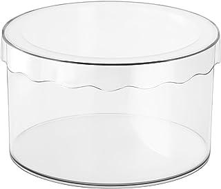 iDesign 47980EU Boîte de Rangement Ronde, Clarity, InterDesign avec Couvercle - Petite, Transparente, Plastique, Clair