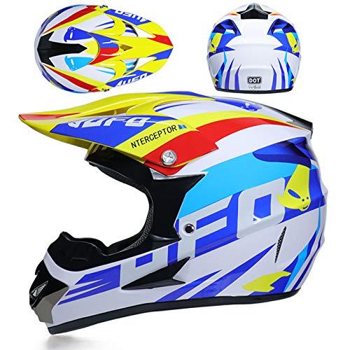 tong99 Motorradhelm Kinder-Offroad-Helm Fahrrad Downhill-Rennen Offroad-Motorradhelm Helm Offroad-Motorradhelm-S