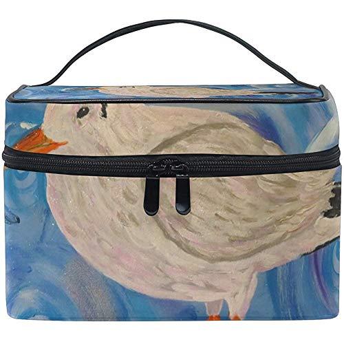 Oiseau peinture sac cosmétique voyage maquillage train cas stockage organisateur