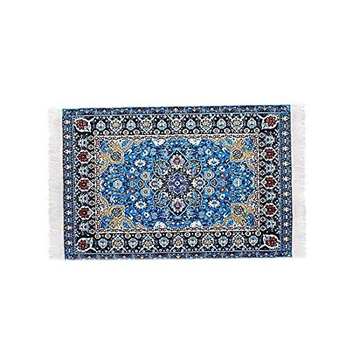 Liten mini leksak miniatyr 1/12 skala turkisk vävd matta filt matta dockhus tillbehör leksak-stjärnklar natt