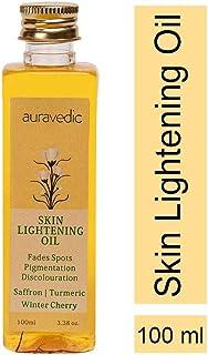 AURAVEDIC Skin Lightening Oil 100 Ml for Face and Body Brightening Natural Ingredients: Winter Cherry, Saffron, Turmeric