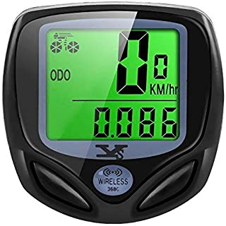 SY Bicycle Speedometer and Odometer Wireless Waterproof Cycle Bike Computer with LCD Display &...
