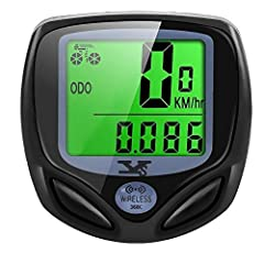 【Auto Wake-up Function】Automatically wakes from sleep mode upon sensing vibration in the bicycle. Bright LCD display to easily view ride statistics. 【Multi-functions】Small size, light weight, wireless, waterproof design makes it convenient and durabl...