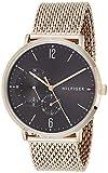 Tommy Hilfiger Reloj Multiesfera para Hombre de Cuarzo con Correa en Oro Rosa 1791506