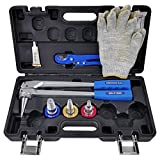 ITOOLY Manual PEX Pipe Expander Tool Kit with 1/2',3/4',1' Expansion Heads for Propex Expansion suit Propex Wirsbo Uponor Meets ASTM F1960 Standard PEX Coupling Fitting Radiant Heat