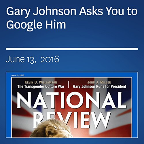 Gary Johnson Asks You to Google Him audiobook cover art