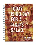 2016-2017 Academic Year Hallmark® Shoebox Bacon Large Grid Weekly/Monthly Spiral Planner, July 2016-June 2017, 6x8