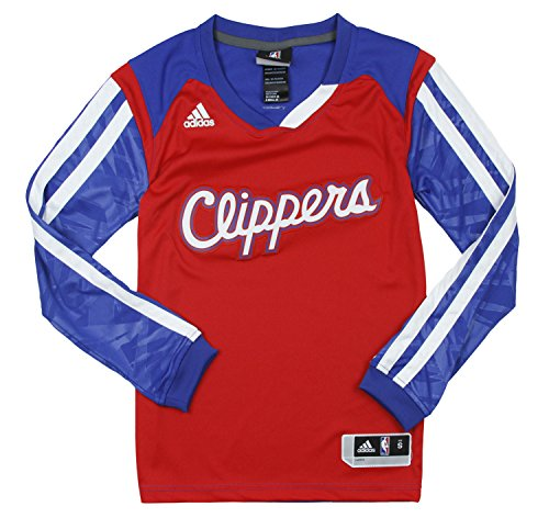 Los Angeles Clippers NBA grandes efecto camiseta de manga larga, color rojo - Rojo -