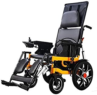 HAOT Silla de Ruedas eléctrica Plegable Plegable Ligero Ancianos Discapacitados Batería de Litio Inteligente Automática Multifunción Plegable Silla eléctrica 20Km gk / 20km