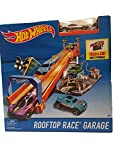 hot wheels rooftop race garage with vehicle- Multi color