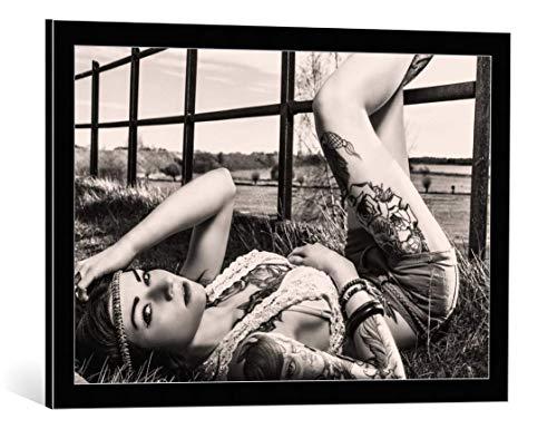 Kunst für Alle Cuadro con Marco: Simon Photography Crystal Rose - Impresión...