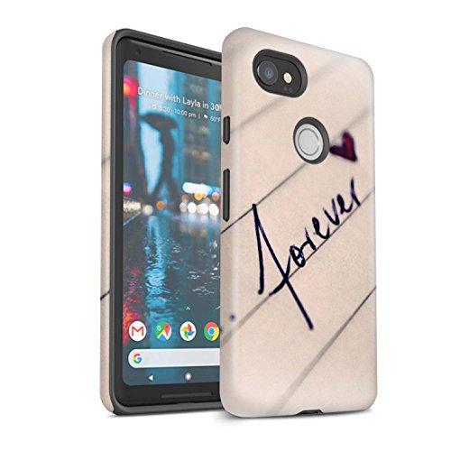 Stuff4® mat schokbestendig beschermhoesje/cover/case/behuizing/telefoon voor Google Pixel 2 XL/schoen/schaats/Tu & Me Coppie Design