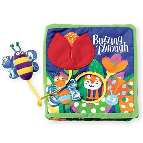 Livre d'activités douces avec jouets Manhattan avec jouet captif bourdonnant à travers