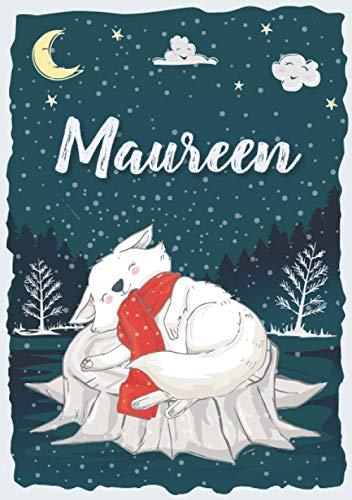 Maureen: Cuaderno A5   Nombre personalizado Maureen   Regalo de cumpleaños para niña, hermana, esposa, niño ...   Diseño : nieve   120 páginas rayadas, formato A5 (14.8 x 21 cm)