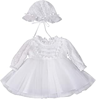ALLAIBB Newborn Girls Autumn 2pcs Skirt Sets Cotton Snap Pullover Dress& Same Style Hats