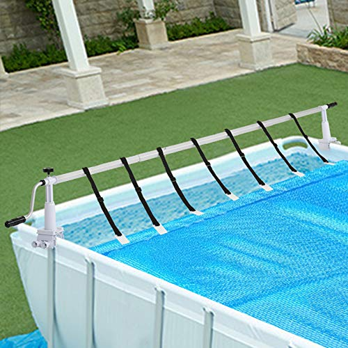 VINGLI 16 FT Pool Cover Reel Set Solar Blanket Roller Systems for Above Ground Swimming Pool