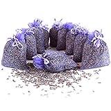 Quertee 10 x Lavendelsäckchen mit Lavendel als Duftsäckchen mit echtem französischen Lavendel zum Entspannen und Schlafen - Mottenschutz im Kleiderschrank (10 x 10 g = 100 g Lavendel)