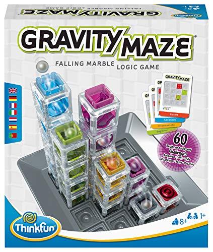 ThinkFun - 76433 - Gravity Maze - das spannende Kugellabyrinth für Mädchen und Jungen ab 8 Jahren, Gehirntraining mit einer Kugelbahn im neuen Verpackungsdesign