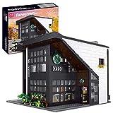 DAN DISCOUNTS Modelo de bloques de construcción, 2728 bloques de construcción para estructuras de café, tienda modular, juego de construcción compatible con Lego