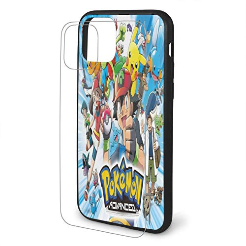 Pokemon Pattern Protective Cover Tempered Glass Back Cover Shockproof Cover Suitable For Apple 11 Tpu Glass Mobile Phone Case Mobile Phone Protective Cover Iphone 11-6.1iphone Tpu Glass Phone Case