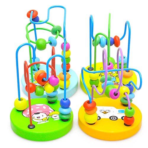 domybest bebé niños juguete educativo para niños juguetes de los niños de madera alrededor de perlas Talla:Style 3