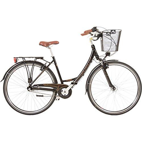 Galano 28 Zoll Prelude Citybike Stadt Fahrrad Licht 3 Gang Nexus, Farbe:Schwarz - 2