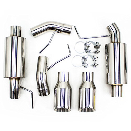 Rev9(CB-1012) FlowMaxx Axle-Back Exhaust Kit, Stainless Steel, Sports-Tuned Muffler, compatible with Ford Mustang V8 2005-10